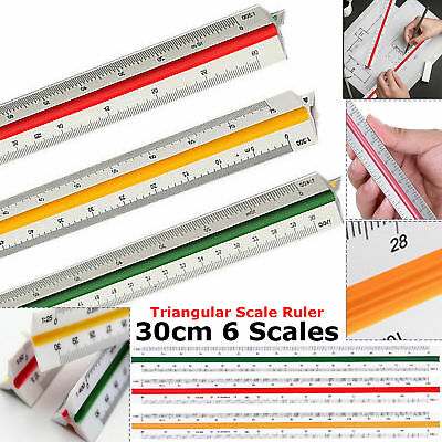 Triangular Scale Ruler 30CM 6 Scales Metric For Professional Engineer Architects