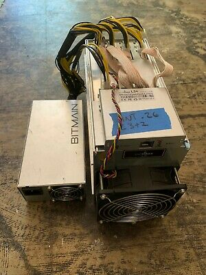 AntMiner L3+ IN HAND in USA 504MH/s ASIC Litecoin Miner w/Power Supply - Scrypt