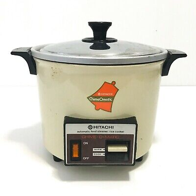 Vintage Hitachi Chime O Matic RD-4053 Automatic Rice Cooker Food Steamer 5.5 Cup