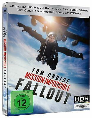 Blu-ray - Mission Impossible Fallout - 4K - Limited Edition Steelbook - 3 Discs