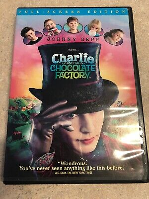 Charlie and the Chocolate Factory (DVD 2005, Full-Screen) Johnny Depp Tim Burton