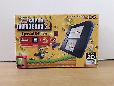 Nintendo 2Ds Blue/Black **Special Edition** New Super Mario Bros Great Condition