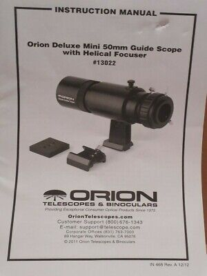 BRAND NEW ORION 13022 Deluxe Mini 50mm Guide Scope with Helical