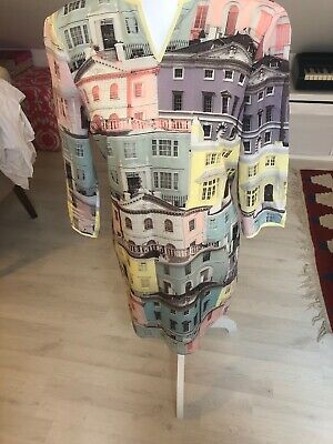 Ted Baker Dress Size 1. Regency Houses Print. Excellent Condition. 8 10 Shift