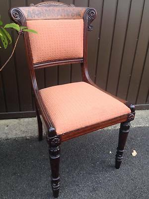 Antique set of 6 + 2 Regency dining chairs in Rosewood