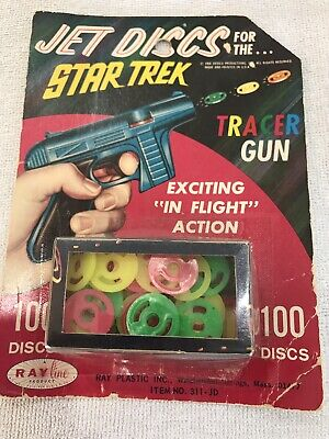 Vintage Star Trek 60s Jet Discs For The Tracer Gun And Tracer Scope New Sealed