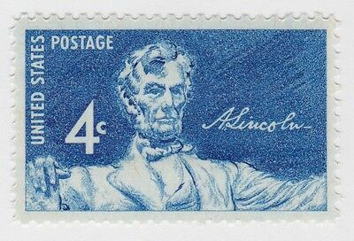 ABRAHAM LINCOLN United States 1959 POSTAGE STAMP Statue in Lincoln Memorial MNH