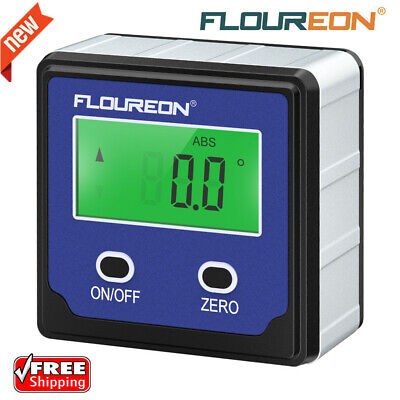 FLOUREON Digital LCD High Precision Angle Finder Protractor Angle Gauge Level