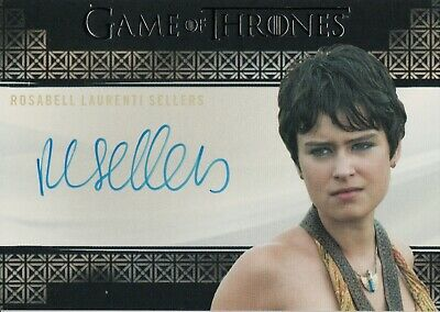 Game of Thrones Inflexions, Rosabell Sellers 'Tyene Sand' Autograph Card