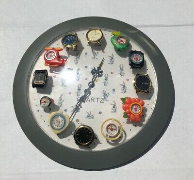 Vintage Watch Clock Seiko Quartz Citizen Watch Lot
