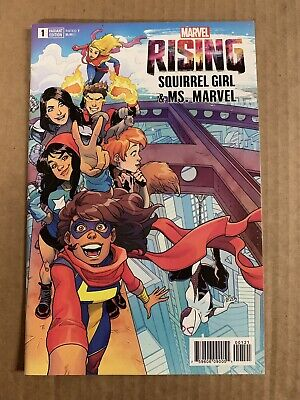 Marvel #1 Artist Variant Marvel NM Co... Marvel Rising Alpha Squirrel Girl /& Ms