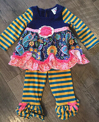 Counting Daisies Girls Outfit Size 12 Months Ruffles