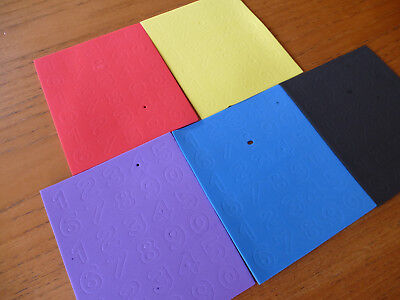 2mm Thick Foam Numbers in Red, Yellow, Purple, Blue & Black ~ Brand New