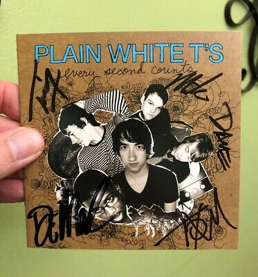 The Plain White T's Autographed CD Cover Hand Signed