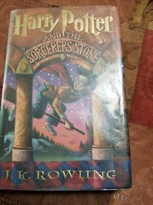 Harry Potter And The Sorcerer's Stone HC DJ 1st Edition USA Ex Library
