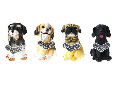 Indoor Outdoor Garden Novelty Animal Dog Patio Dogs Ornament Decoration 19cm