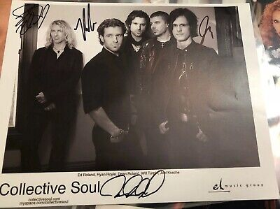 Collective Soul Band Autographed Photo Hand Signed 8x10