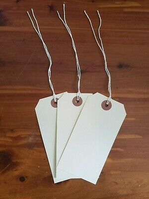 """100 - MANILA INVENTORY SHIPPING TAGS SIZE #5 WITH STRING - 2 3/8"""" x 4 3/4"""""""