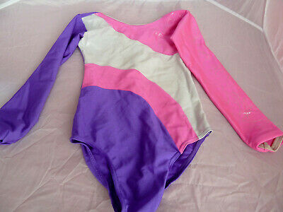 Girls Tappers and Pointers Gymnastics long sleeve leotard size 0 - 5-6 years