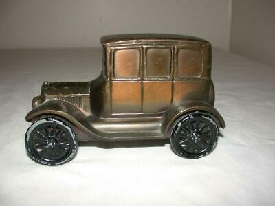 Vintage Banthrico Cast Metal Car Coin Bank 1928 Ford Model T