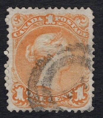 CANADA #23 1c  2 RING  LARGE QUEEN ISSUE 1868-  FINE