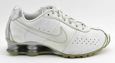 check out dd2ca 58bff Womens Nike Shox Classic Ii 2 Running Shoes Size 7 Silver White Leather  343907