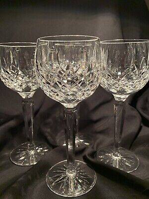 Waterford Lismore Wine Hock Crystal Goblet  7 3/8 Inches