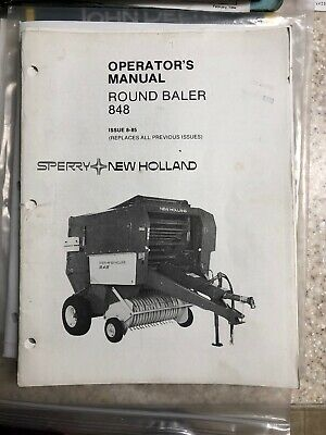 NEW HOLLAND BALE Command Controller Operator's Manual 848 853 855