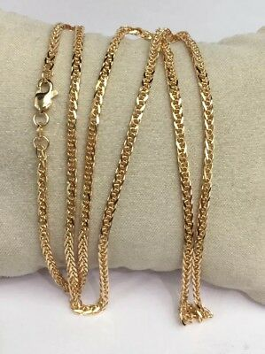 18k Solid Gold Unisex Italian Wheat Chain/Necklace Dimond Cut 20 Inches. 11.51Gr