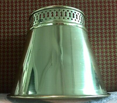 "Small Vintage Tole Brass Finish CLIP ON Bulb Lamp Shade 5.25"" Tall. (12 Avail)"