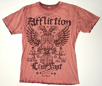 Affliction Dead or Alive Red XL Shirt X-Large New