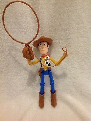 """2017 Disney Toy Story Sheriff Woody Action Figure Bendable Doll Throws Lasso 10"""""""