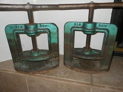 Handler BIG BOY Flask Press Model 38B with Two Flask Dental Lab lot of (2)