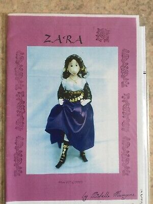 Cloth Doll Sewing Pattern - gypsy fortune teller spirit lady toy gift craft