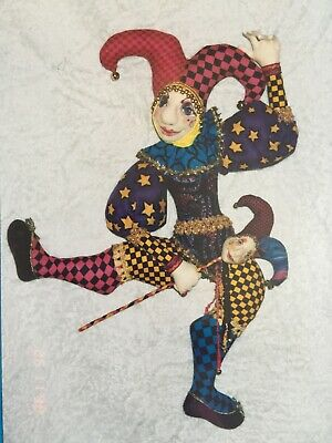 Cloth Doll Sewing Pattern - jester clown harlequin circus man toy gift craft