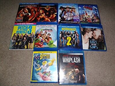 10 Blu Ray Movie Lot Hunger Games,Pitch Perfect 2 and 3 Free Shipping
