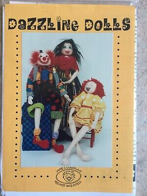 Cloth Doll Sewing Pattern - well designed girl clown girls boys gift toy craft
