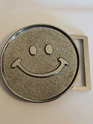VINTAGE Happy Face  3 Inch Belt Buckle FREE SHIPPING!!!