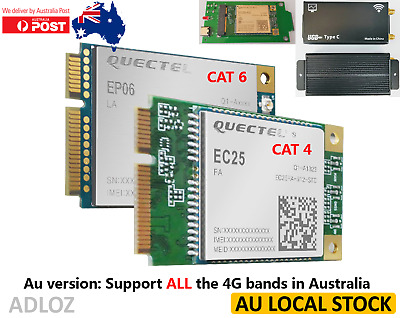 AU Version Unlocked Quectel EP06-E EC25-AU Mini PCIe 4G LTE Module & USB Adapter