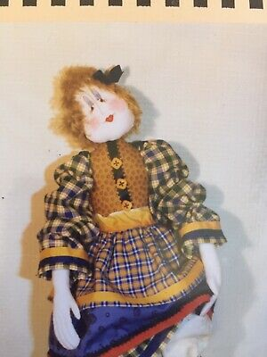 Cloth Doll Sewing Pattern - pretty rag doll childs girls gift toy craft