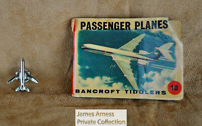 James Arness Gunsmoke Marshal Dillon Vtg Tiddlers Planes Book & Jet Lapel Pin