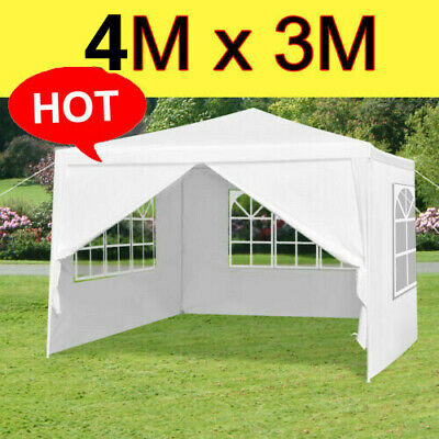 4x3M Waterproof Gazebo Tent Marquee Awning Canopy Outdoor Wedding Garden Party