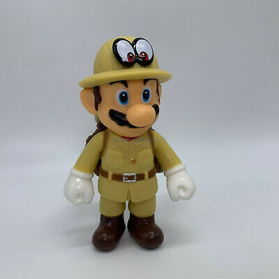 NEW Super Mario Odyssey Golden Mario Plastic Figure PVC Doll Toy Gifts 5""