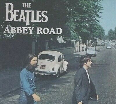 Abbey Road The Beatles Framed Art Photo Poster 24 x 36 Black Wood Frame