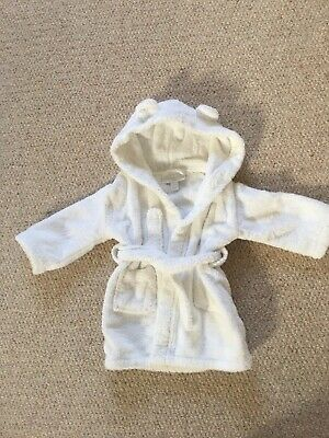 The Little White Company, baby dressing gown, white, age 6-12 months