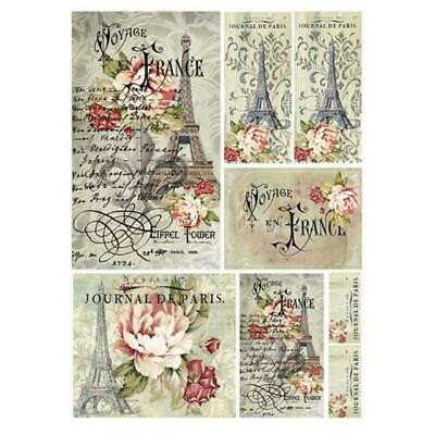 Rice Paper - Decoupage - Stamperia - 1 x A4 Size Sheet - France