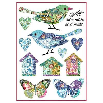 Rice Paper - Decoupage - Stamperia - 1 x A4 Size Sheet - Birds & Houses