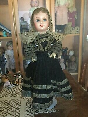 Antique French S.F.B.J. papier head doll on original composition  body ca 1900s