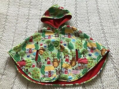 Infant Child's Vintage Style Nursery Rhyme Little Red Riding Hood Cape Jacket.