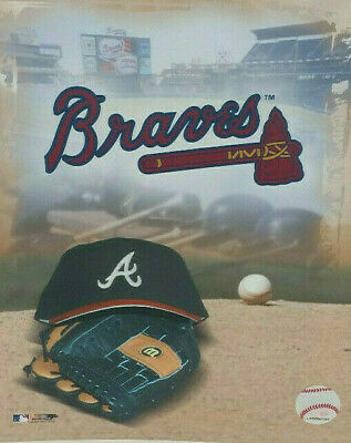 reputable site e4e6b 240b8 Atlanta Braves Photo Cap Glove Logo MLB Baseball